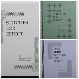 The 3 Stitches For Effect books by Suzanne Howren & Beth Robertson