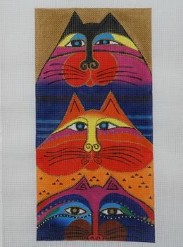 Laurel Burch Fat Cats Needlepoint Canvas