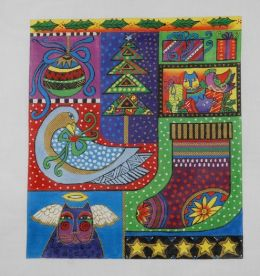 CLEARANCE Laurel Burch Bounty of Bliss Needlepoint Kit