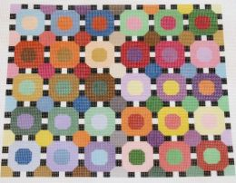 Scrap Thread Circles Number 1 Needlepoint Canvas