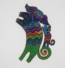 CLEARANCE Laurel Burch Dancing Dogs Needlepoint Canvas
