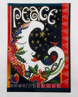 CLEARANCE Laurel Burch Peace Moon Needlepoint Kit