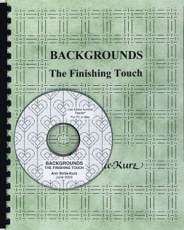 Backgrounds:The Finishing Touch w/ CD by Ann Strite-Kurz