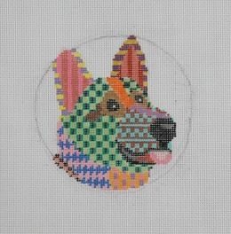 CLEARANCE German Shepherd Ornament Needlepoint Kit