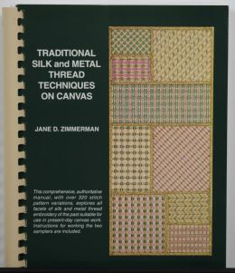 Traditional Silk and Metal Thread Techniques On Canvas
